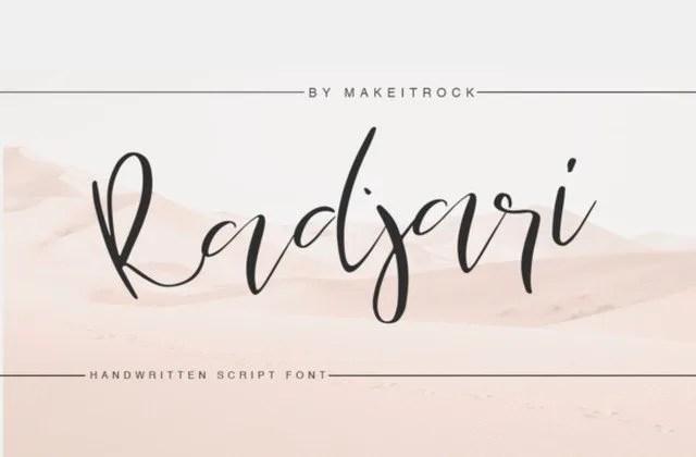 Radjari [1 Font] | The Fonts Master