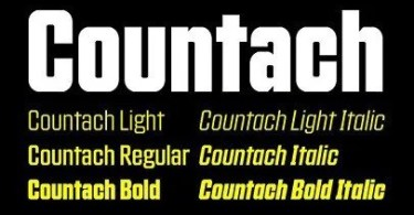 Countach Super Family [6 Fonts]