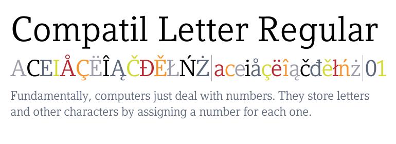 Compatil Letter Super Family [4 Fonts] | The Fonts Master