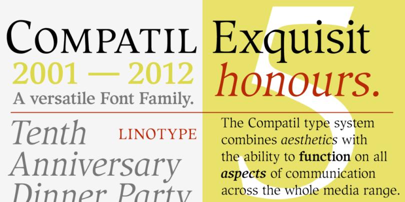 Compatil Exquisit Super Family [4 Fonts] | The Fonts Master
