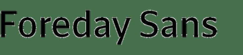 Foreday Sans Super Family [12 Fonts]