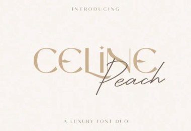 Celine Peach [2 Fonts]