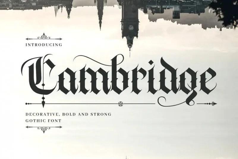 Cambridge [1 Font]
