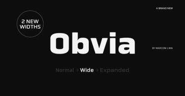 Obvia Wide [9 Fonts]