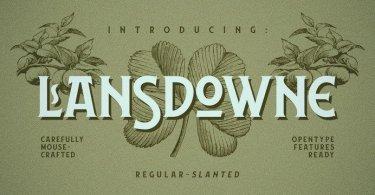 Lansdowne [2 Fonts]