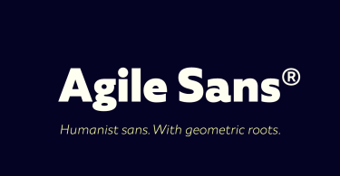 Agile Sans Super Family [18 Fonts]