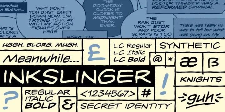 Inkslinger BB [6 Fonts]