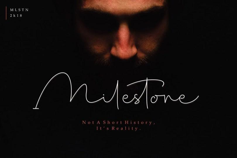 Milestone Signature [1 Font]