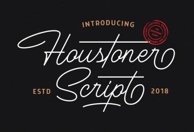 Houstoner Script [2 Fonts]