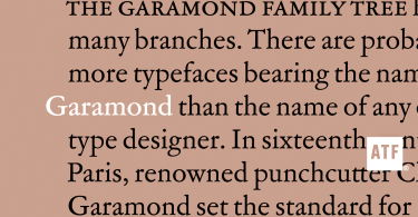 ATF Garamond Super Family [18 Fonts]