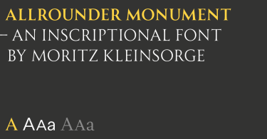 Allrounder Monument [3 Fonts]