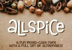 Allspice [2 Fonts]