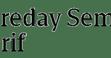 Foreday Semi Serif Super Family [12 Fonts]