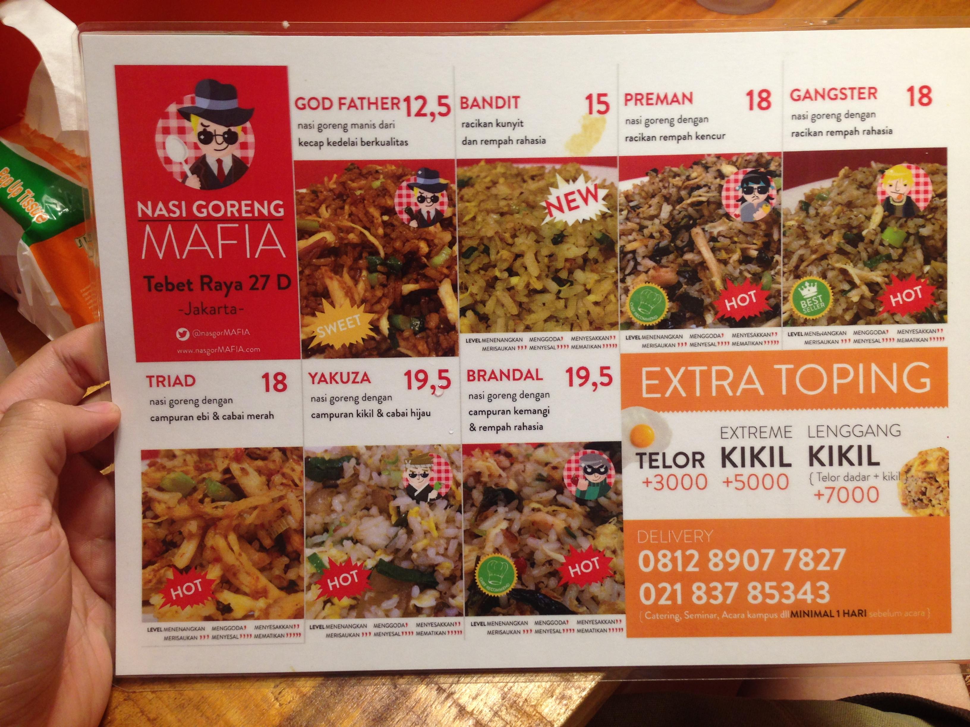 Nasi Goreng Mafia bukan cuma cabecabean  The Food and Me
