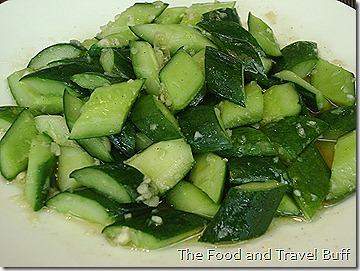 Cucumber with Garlic and Chili Sesame