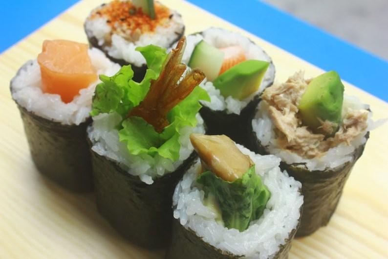 Maki_Tuna Mayo & Avocado, Panko Prawn, Fresh Salmon