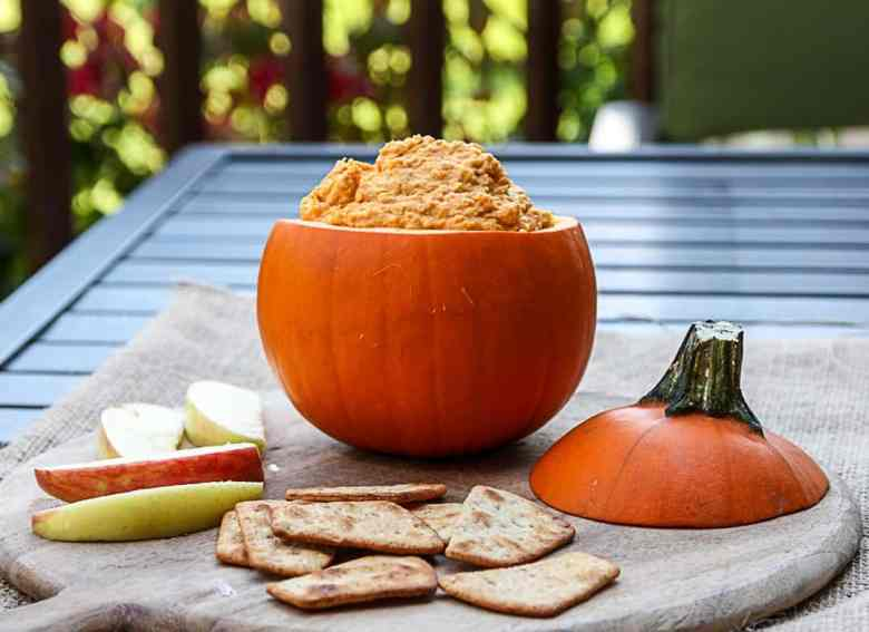 Roasted Pumpkin Hummus – Pumpkin Dip for Fall