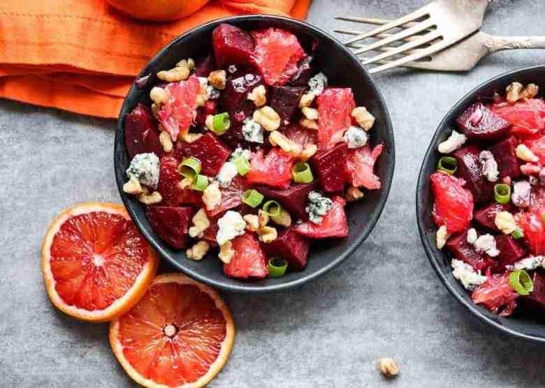 Beet Salad with Grapefruit & Blue Cheese