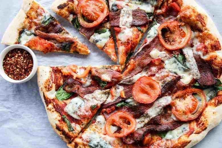 Pizza Recipe - Bacon, Spinach & Tomato