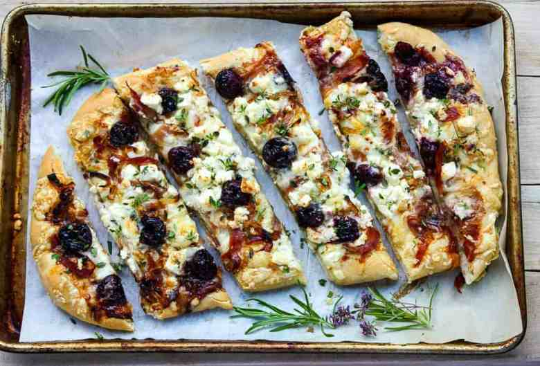 Balsamic Cherry & Feta Pizza