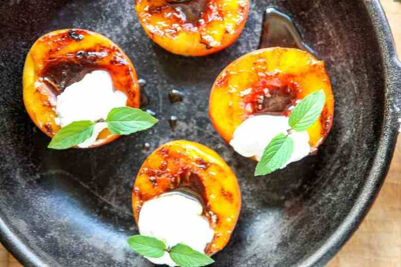 Spiced Rum Grilled Peaches – Grilled Peaches Recipe