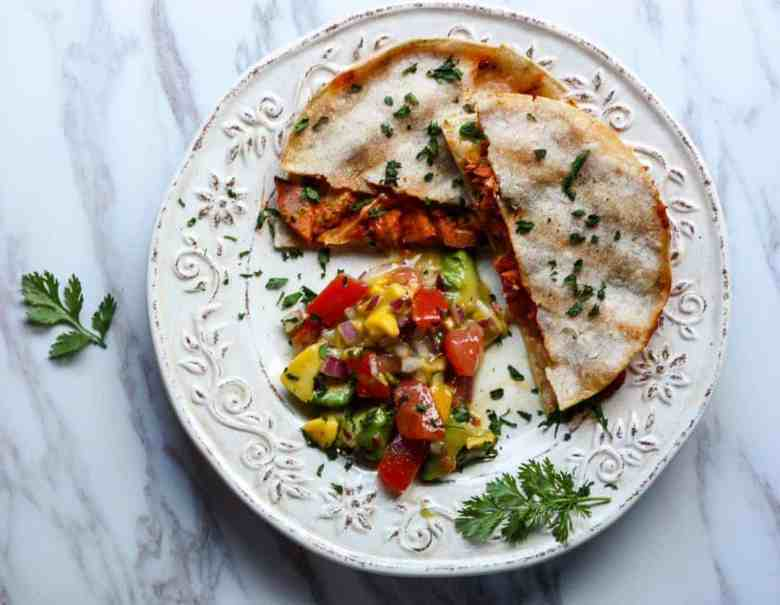 Sriracha Salmon Quesadillas