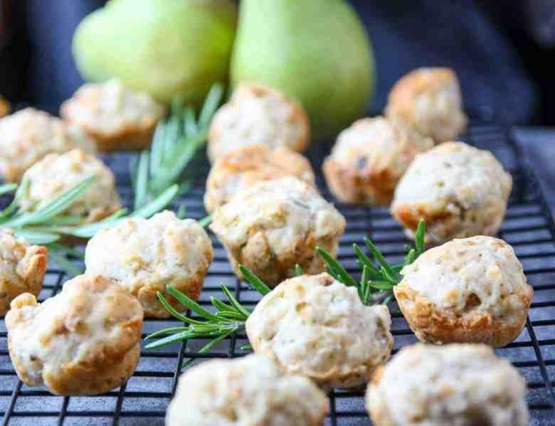 Pear Gorgonzola Muffins