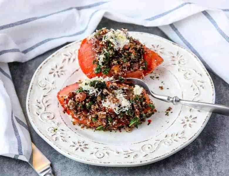 Kale & Quinoa Stuffed Tomatoes