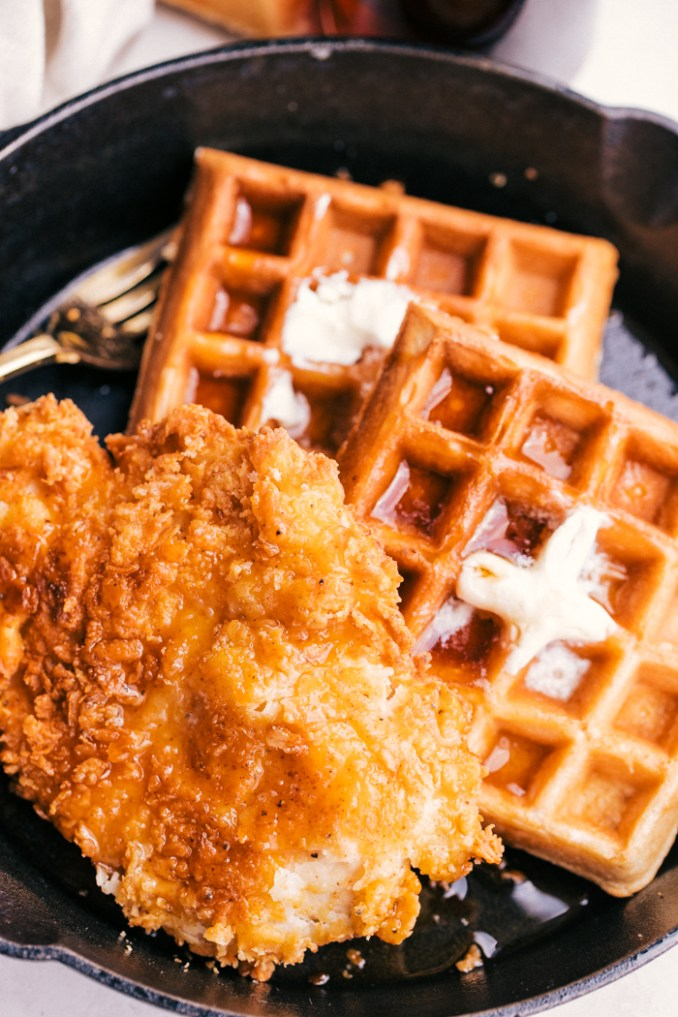 Easy Chicken and Waffles | The Food Cafe | Just Say Yum