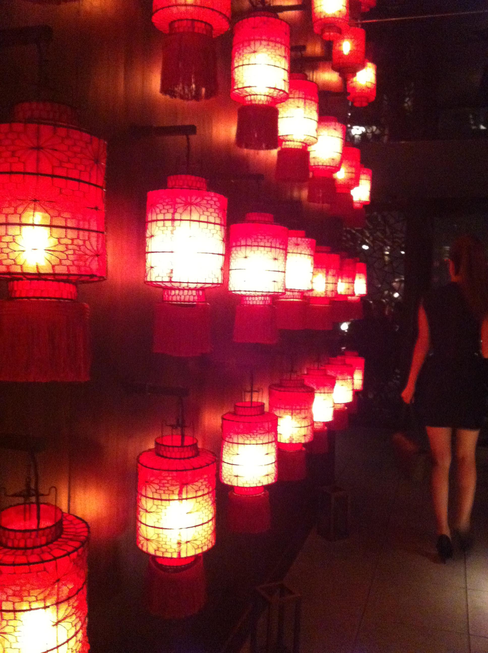 hutong red lantens