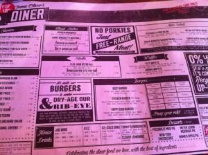 jamie diner menu