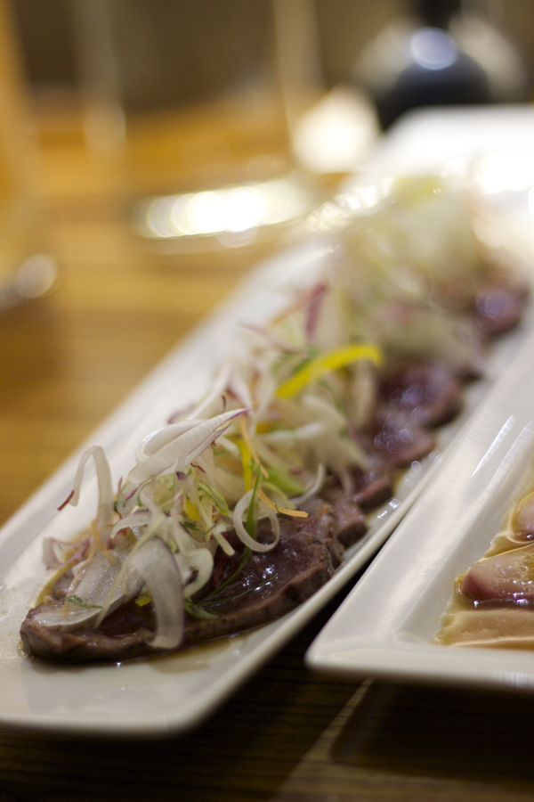 YELLOWTAIL WITH TRUFFLE DRESSING