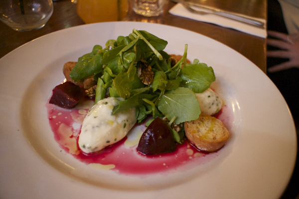 CREAMED GOAT'S CHEESE SALAD