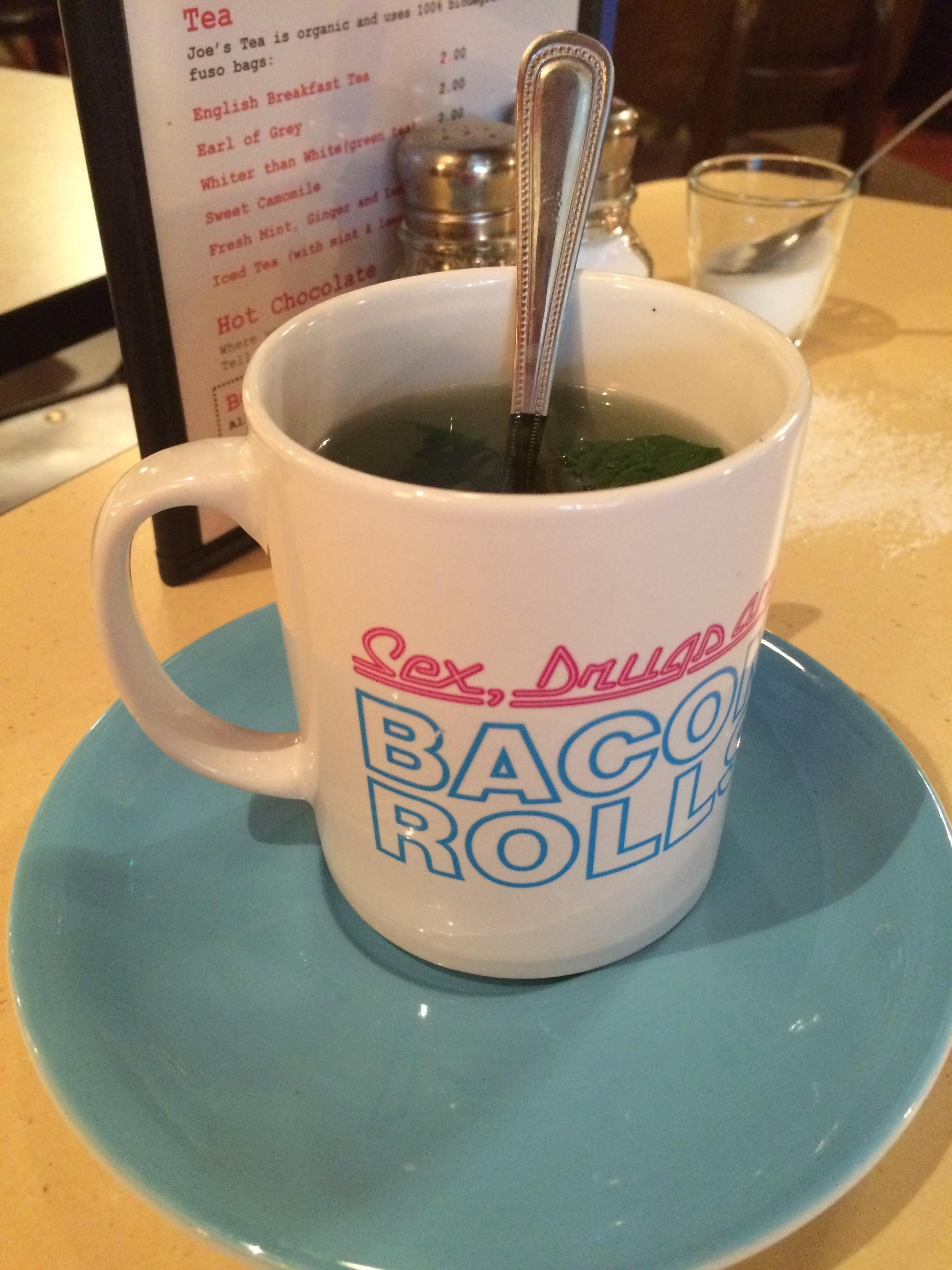 The Breakfast Club Canary Wharf mint tea