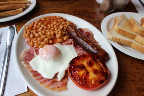 full english breakfast set