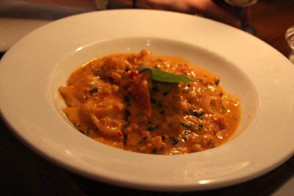 seafood linguine lobster ravioli