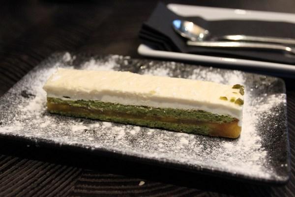 yuzu matcha finger cake