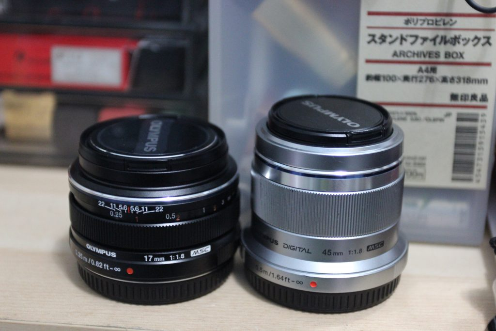 Olympus 45mm and 17mm