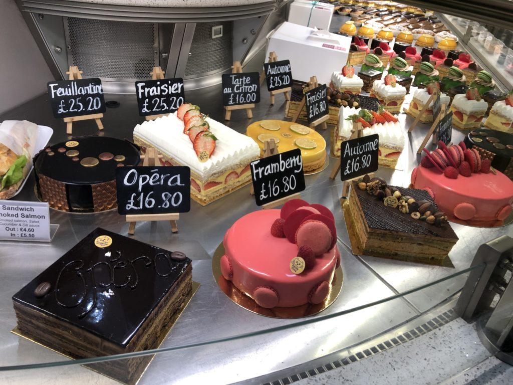 Patisserie Sainte Anne Cakes display