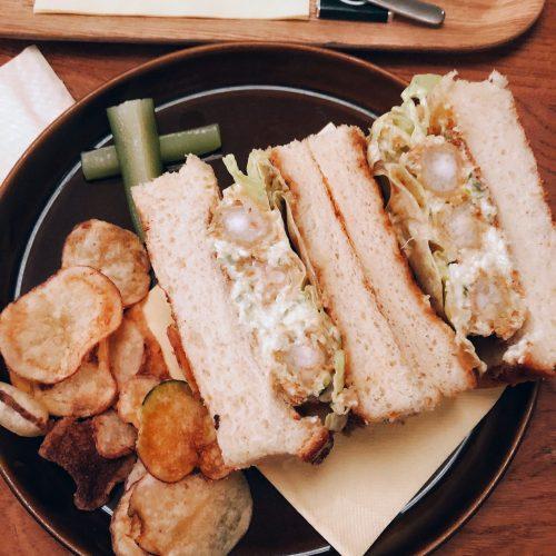 The Monocle Cafe Prawn katsu sando