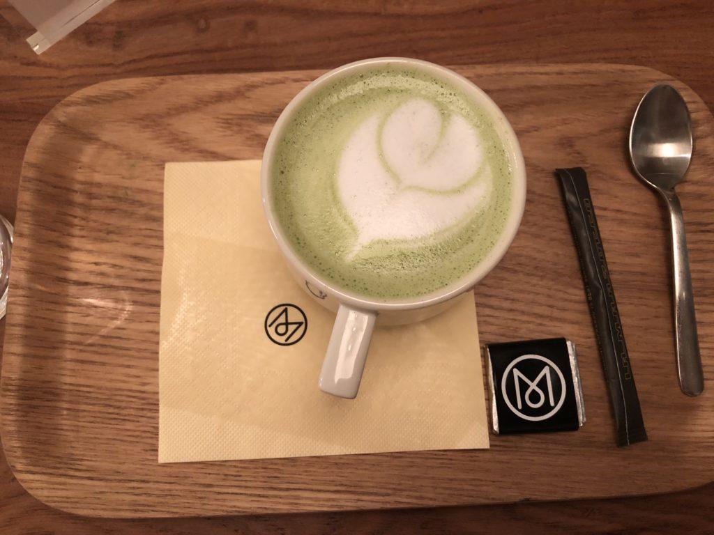 The Monocle Cafe green tea matcha