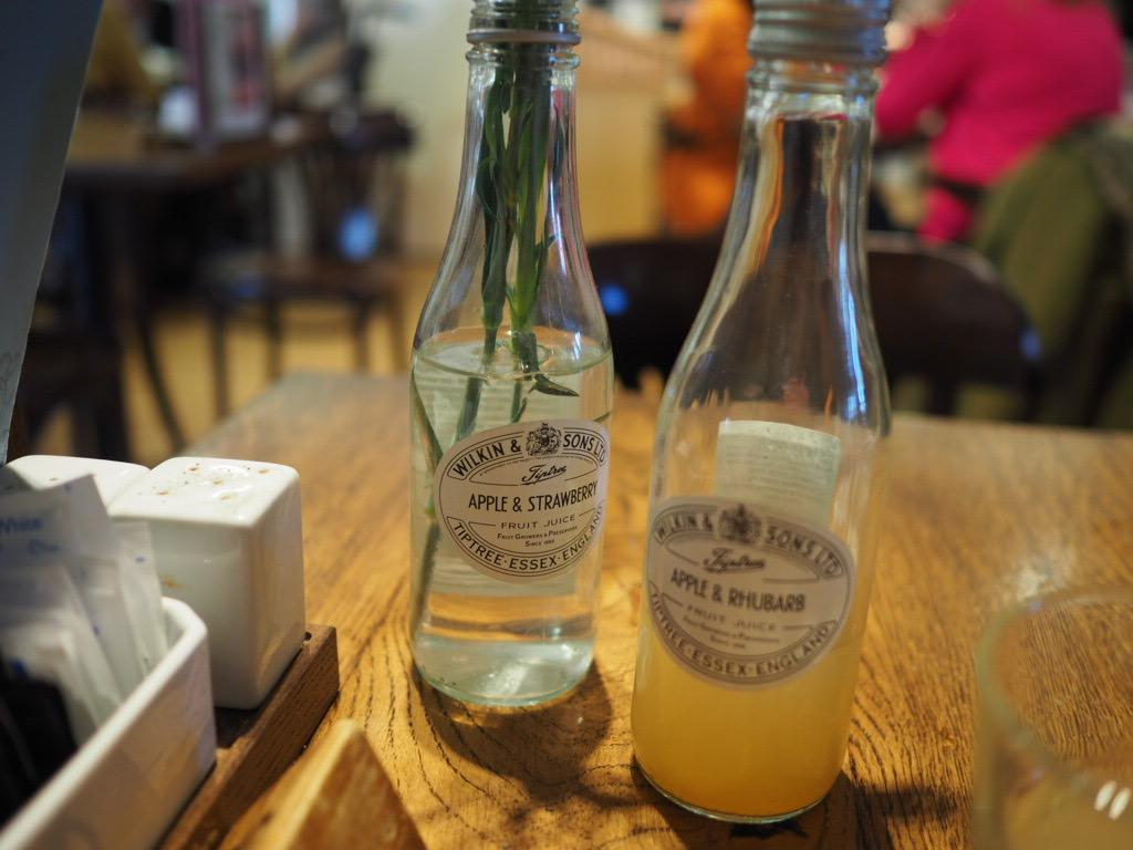 Wilkin & Sons apple and rhubarb juice