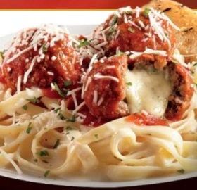 4) Applebee's Provolone Stuffed Meatballs with Fettuccine photo
