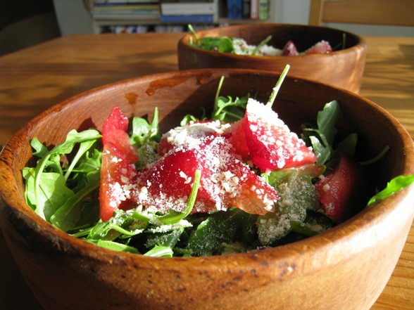 ARUGULA PLUOT SALAD recipe picture
