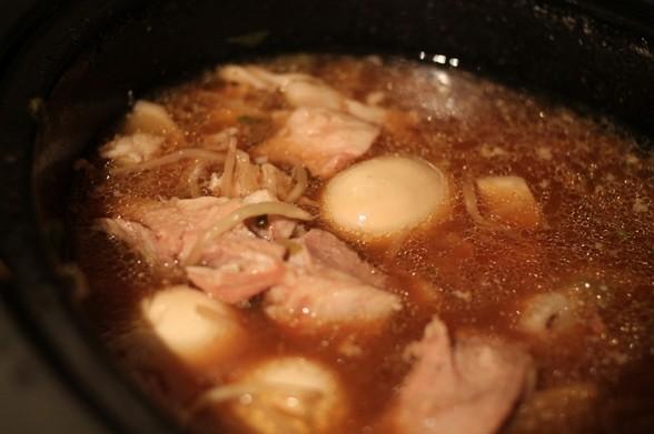 CARAMELIZED PORK WITH EGGS AND DAIKON recipe