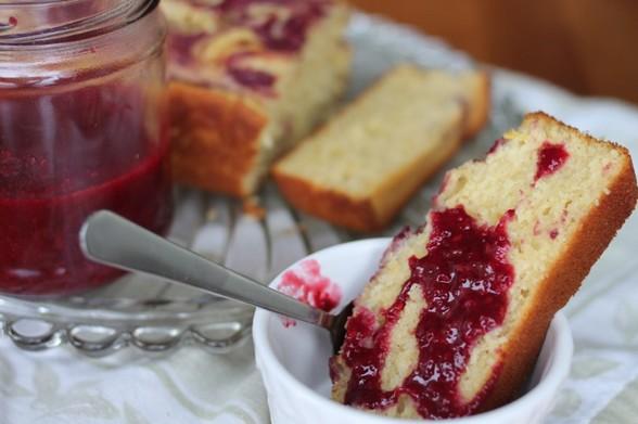 LEMON BLACKBERRY SWIRL POUND CAKE recipe