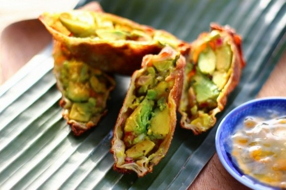Avocado Egg Rolls recipe by The Crucian Contessa