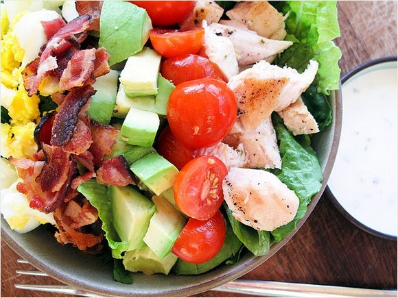 Cobb Salad with Creamy Chive Dressing recipe