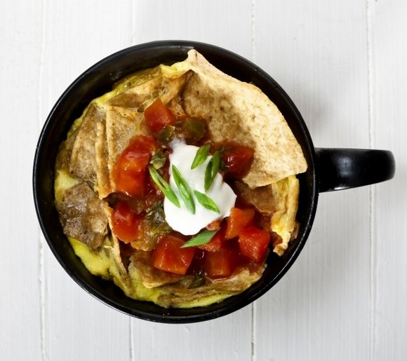 Photo source: Bill Hogan/Chicago Tribune/MCT, recipe for chilaquiles in a mug here