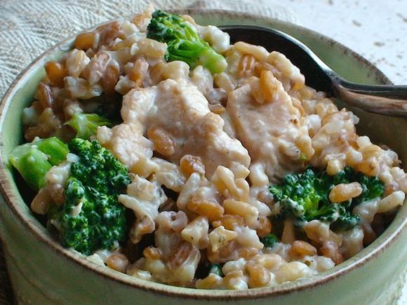 Creamy Chicken, Broccoli, and Grain One-Pot recipe